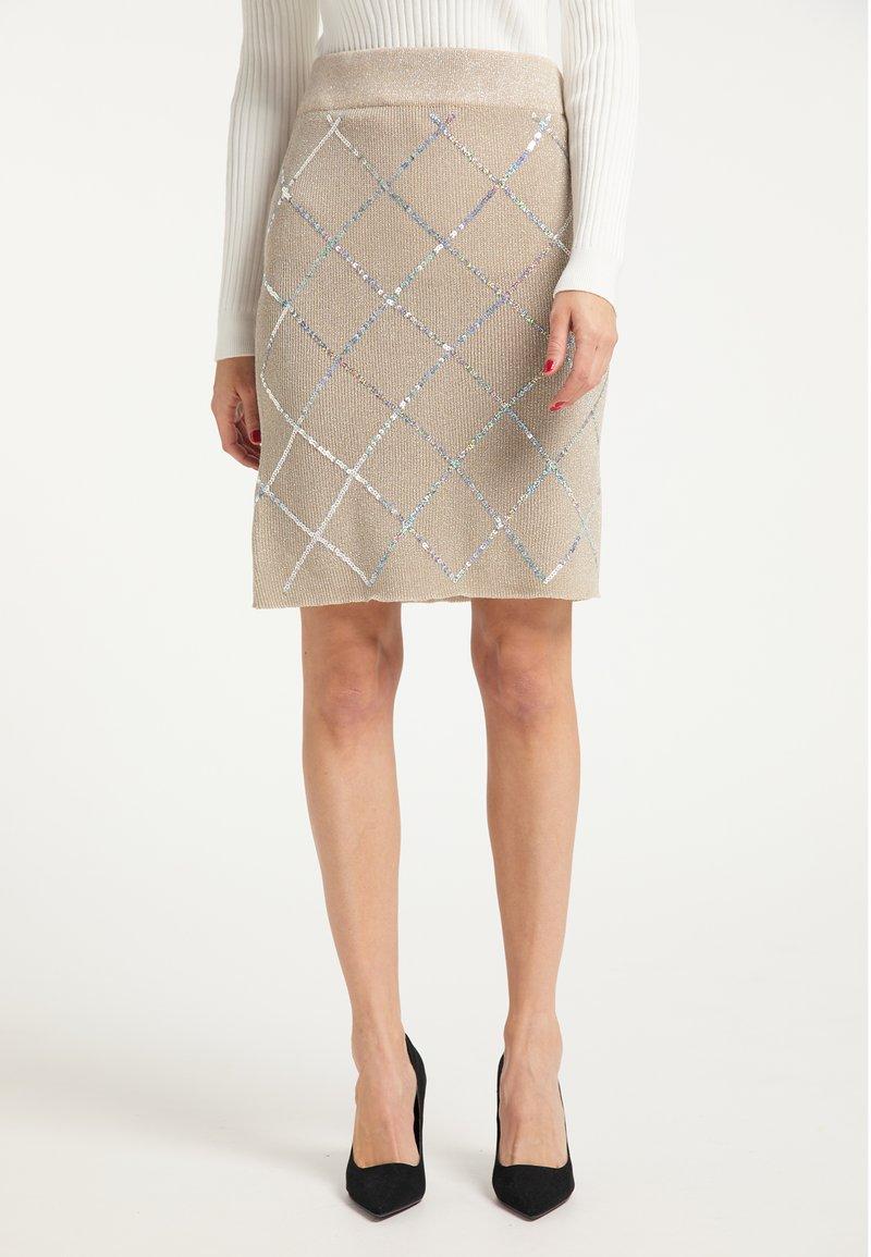 faina - Pencil skirt - beige
