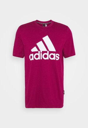 ESSENTIALS SPORTS SHORT SLEEVE TEE - T-shirt print - power berry