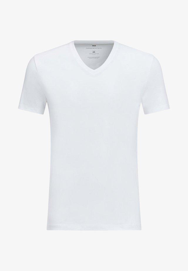 HERREN-BASIC T-SHIRT - T-shirt basic - white