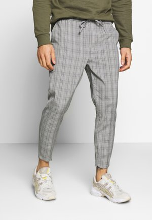 VINCENT SMART JOGGERS IN PRINCE OF WALES - Pantaloni - charcoal