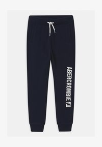 Abercrombie & Fitch - LOGO - Tracksuit bottoms - navy - 0