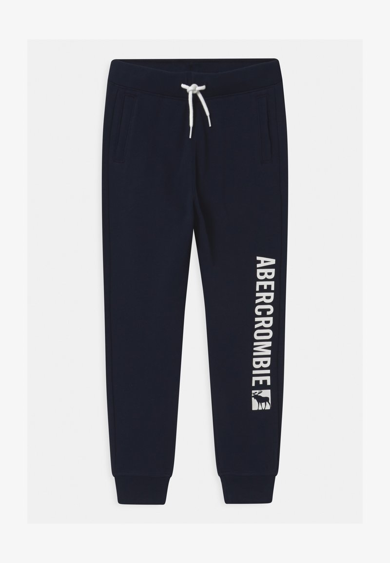 Abercrombie & Fitch - LOGO - Tracksuit bottoms - navy