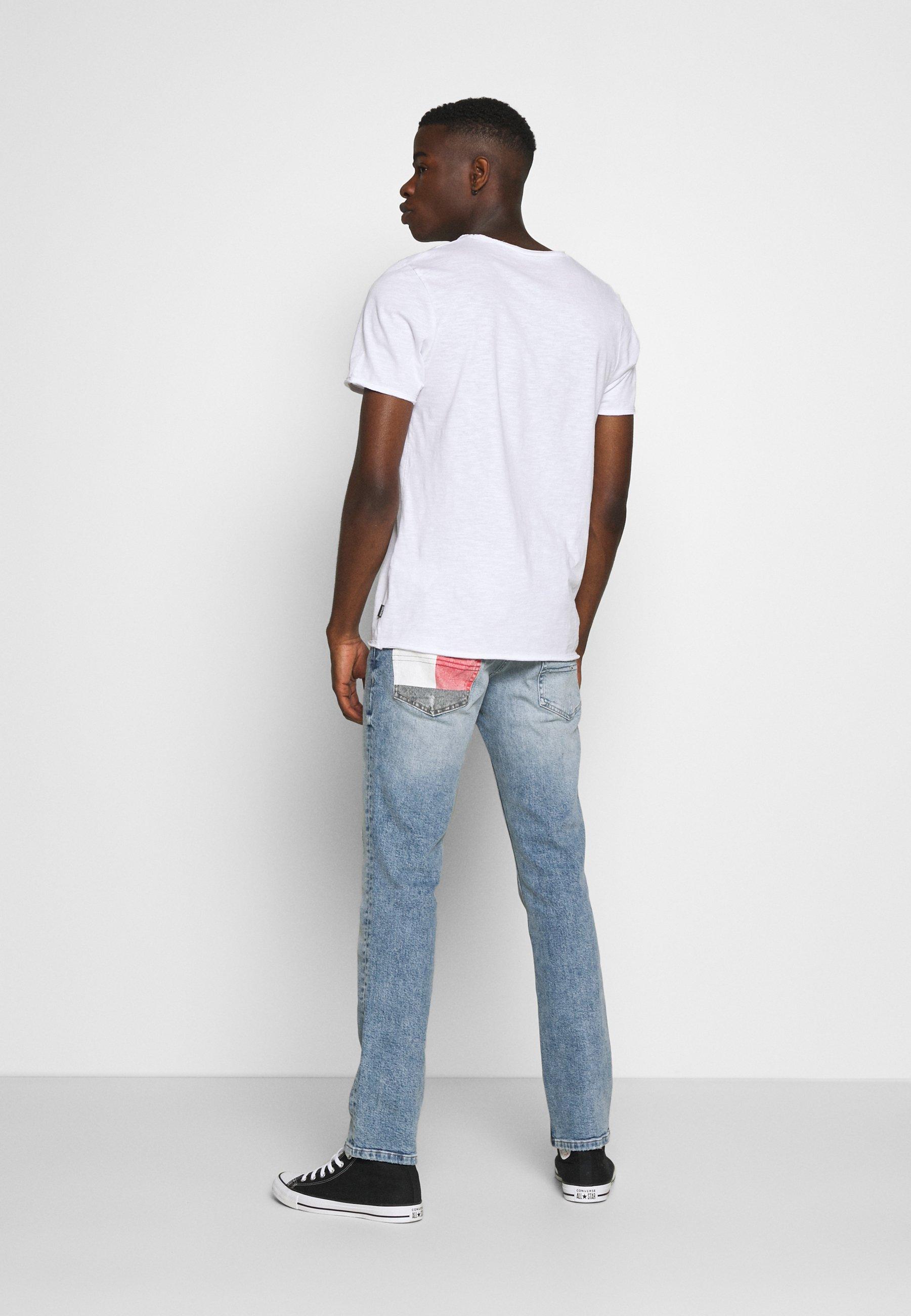 Jack & Jones JJDETAIL TEE U NECK - Basic T-shirt - white GdyVA