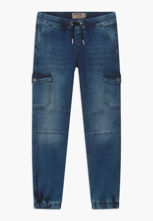 BOYS JEANS - Cargo trousers - medium blue