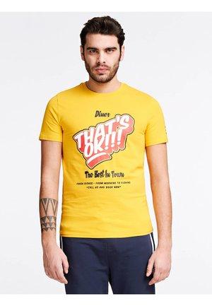 Print T-shirt - mehrfarbig  gelb