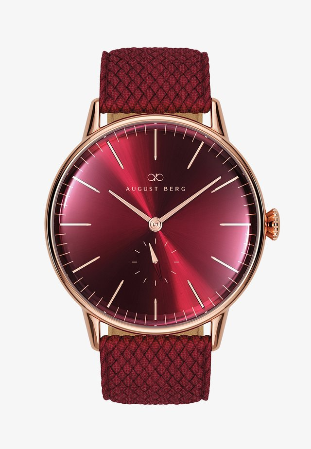 UHR SERENITY BURGUNDY EYE BURGUNDY PERLON 40MM - Orologio - sunray red