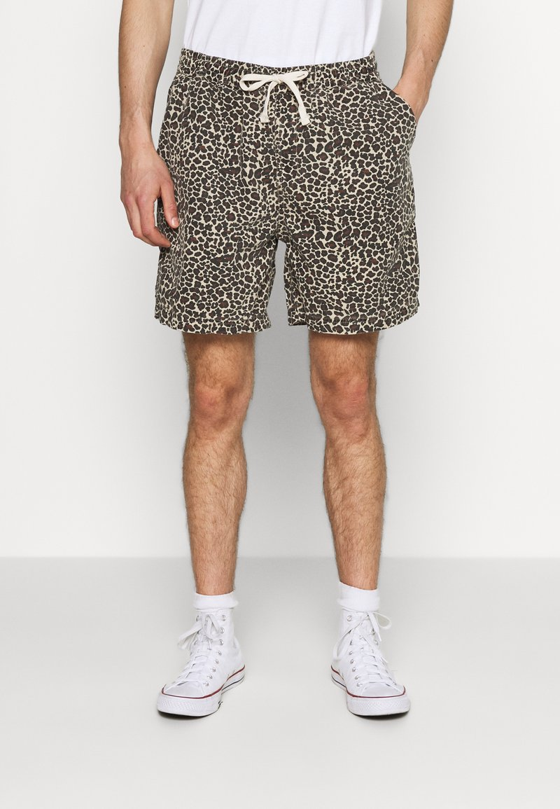 BDG Urban Outfitters - LEOPARD DRAWSTRING - Shorts - brown