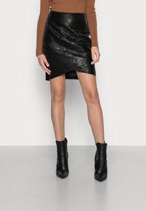 ROSALBA SKIRT - Mini skirt - jet black