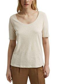 Esprit - Basic T-shirt - light beige - 4