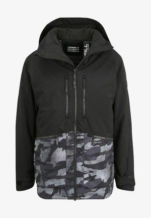 TEXTURE JACKET - Snowboard jacket - black out
