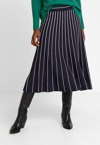 s.Oliver - A-snit nederdel/ A-formede nederdele - navy - 0
