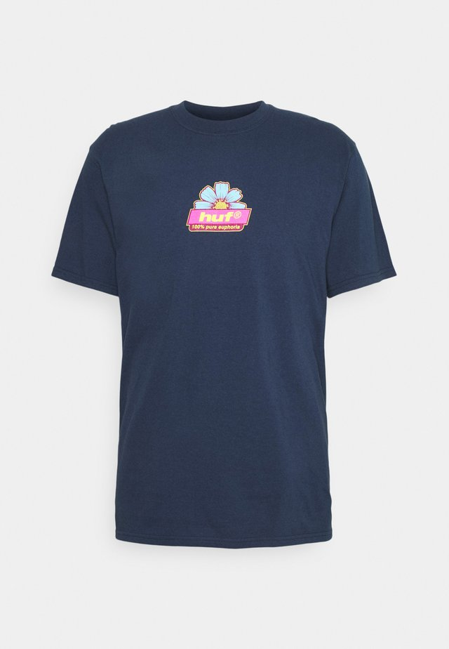 PURE TEE - T-shirt med print - navy
