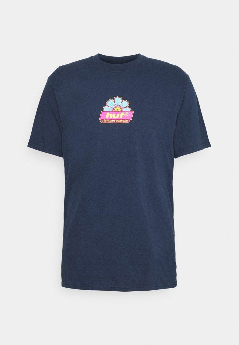 HUF - PURE TEE - Camiseta estampada - navy