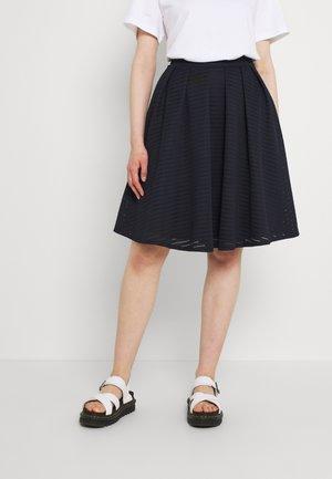 LOU SKATER SKIRT - Veckad kjol - navy blue
