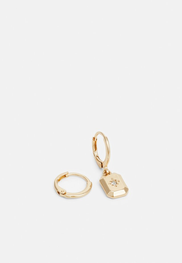 BLOCK ASYMMETRIC EARRING - Earrings - gold-coloured
