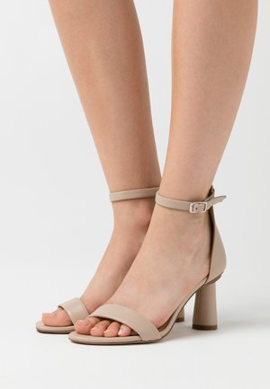 CONE SHAPE STRAP  - High heeled sandals - beige