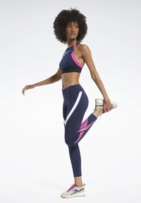 Reebok - WORKOUT READY VECTOR LEGGINGS - Tights - blue - 1