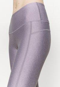 Under Armour - HI RISE CROP - Punčochy - slate purple light heather - 5