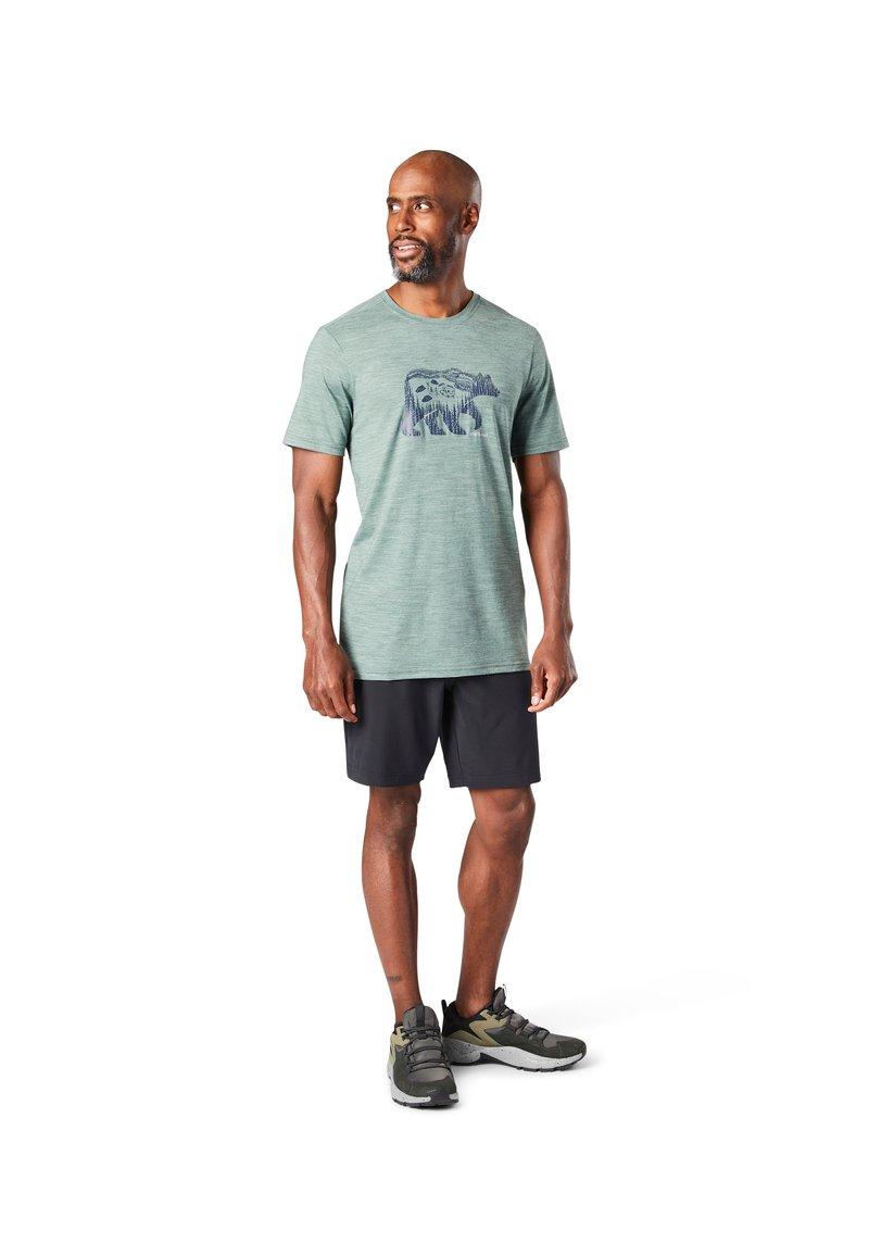 Smartwool - T-shirt print - sage heather