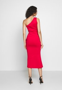 True Violet - ONE SHOULDER MIDI DRESS WITH FRILL WRAP HEM - Occasion wear - red - 2