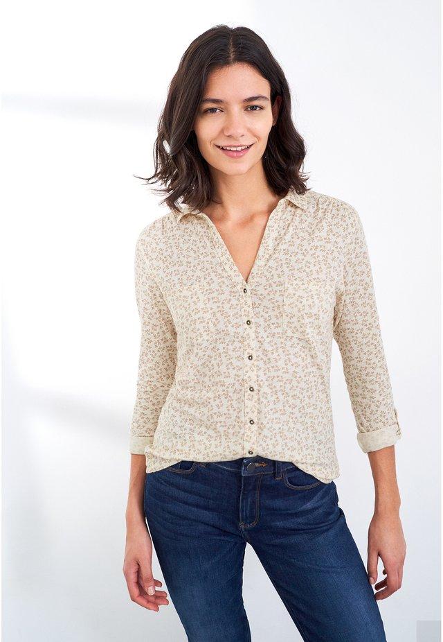 Button-down blouse - natur mehrfarbig