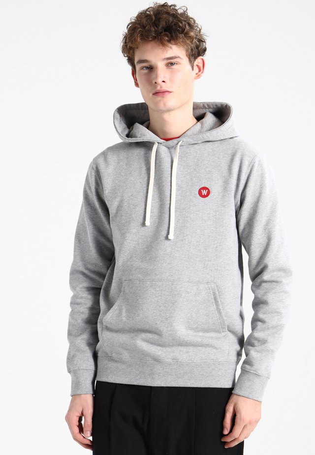 IAN - Sweat à capuche - grey melange