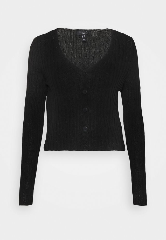 STITCHY CARDIGAN - Gilet - black