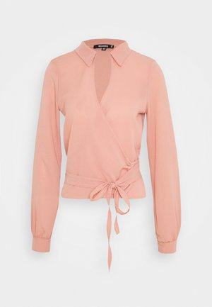 TIE SIDE BLOUSE - Blouse - pink