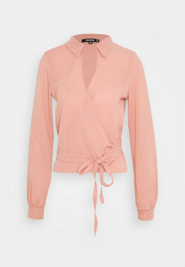 TIE SIDE BLOUSE - Bluzka - pink