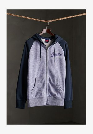 VINTAGE LOGO  GOODS - Sweatjacke - mist blue space dye