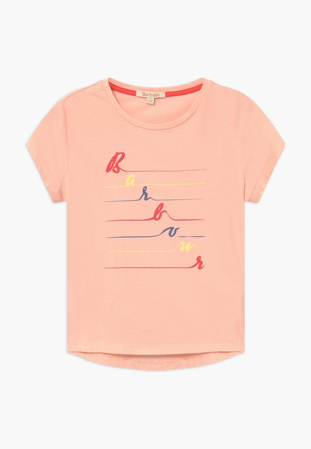 GIRLS BOARDWALK  - Print T-shirt - pale coral