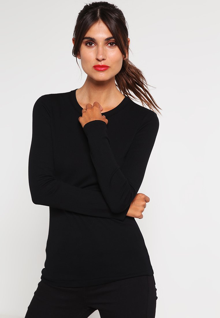 Petit Bateau - Long sleeved top - noir
