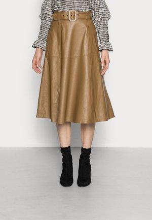 YASELLA SKIRT - Leather skirt - ermine