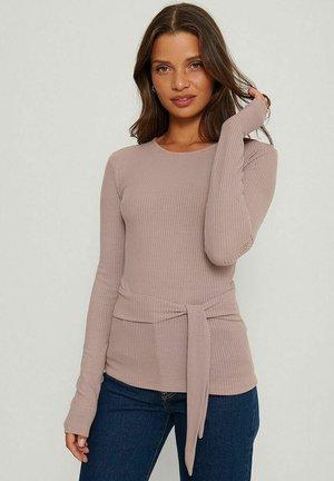 Långärmad tröja - dusty pink