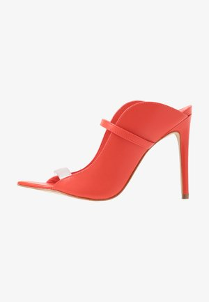 LISADELL - Pantofle na podpatku - red
