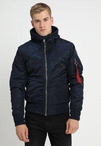 Alpha Industries - HOODED STANDART FIT - Light jacket - rep blue - 0