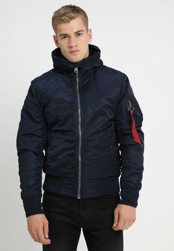 HOODED STANDART FIT - Light jacket - rep blue