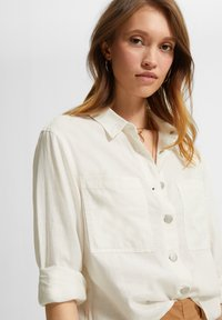 comma casual identity - Button-down blouse - white - 4