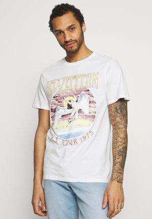 COLLAB MUSIC UNISEX - T-shirt con stampa - vintage white