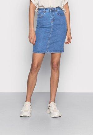 Úzka sukňa - medium blue denim