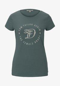 TOM TAILOR DENIM - Print T-shirt - mineral stone blue - 5