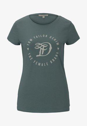 Print T-shirt - mineral stone blue