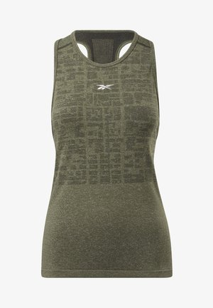 UNITED BY FITNESS MYOKNIT SEAMLESS TANK TOP - Débardeur - green