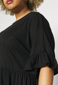Missguided Plus - FRILL SMOCK DRESS - Day dress - black - 5