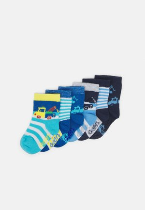 VEHICLES 6 PACK - Socks - white/blue