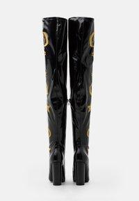 Koi Footwear - VEGAN ASTRID - Kozačky na vysokém podpatku - black/gold - 3