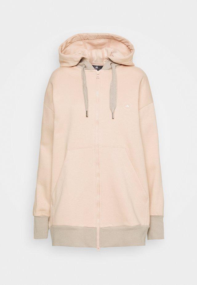 HOODIE - Zip-up hoodie - soft powder/light brown