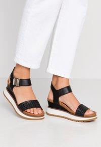 Felmini - KAREN - Sandály na platformě - black - 0