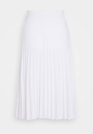 Plisse A-line mini skirt - A-Linien-Rock - white