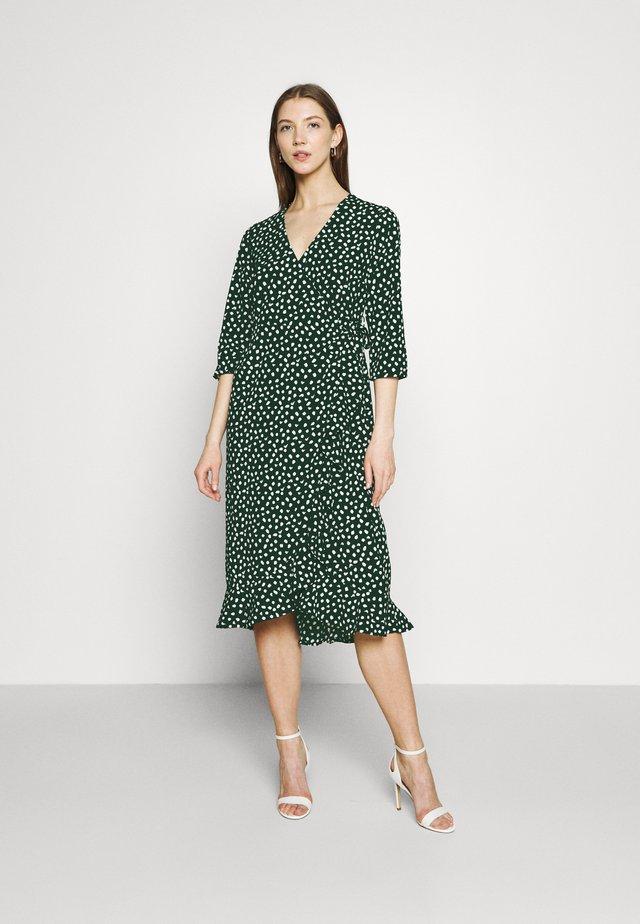 VMHENNA WRAP CALF DRESS - Korte jurk - pine grove